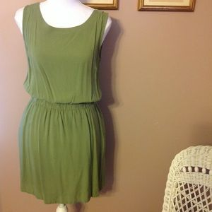 Faded Glory olive green skater dress